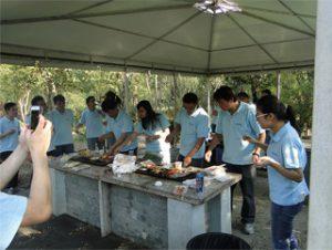 燒烤在Gucun公園,秋天2014年