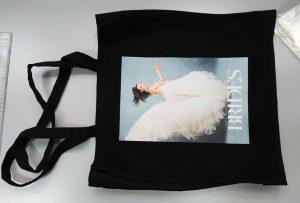 來自英國客戶的黑色樣品袋由dtg紡織品印花機印刷