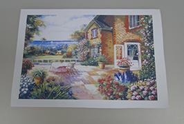 油畫布由2.5米(8英尺)eco溶劑打印機WER-ES2501 2打印