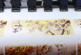 自粘式乙烯基由1.8米(6英尺)eco溶劑打印機WER-ES1802打印