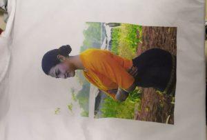 從WER-EP6090T打印機為緬甸客戶打印T卹樣品